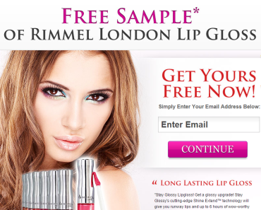 Free Samples of Rimmel London Lip Gloss
