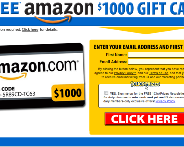 Get $1000 Amazon Gift Card for Free