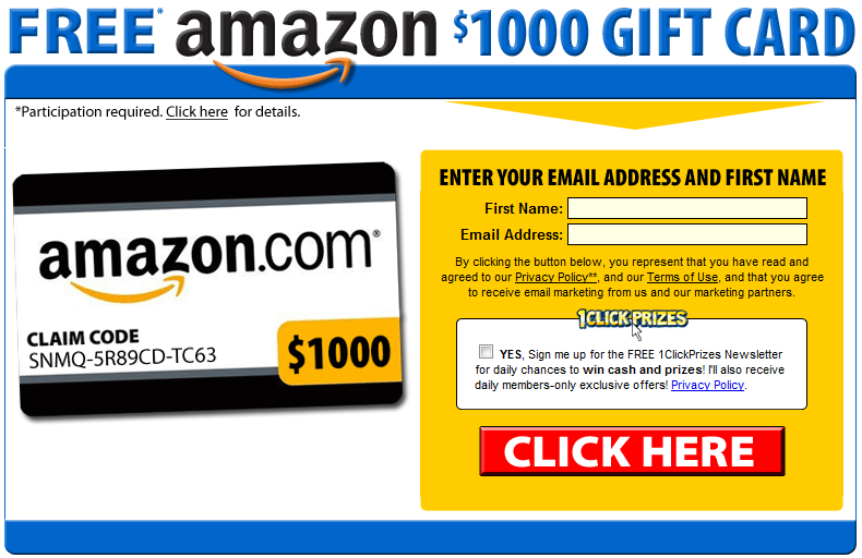 how to get a free amazon gift card get 1000 amazon gift card for free sles r us 5357