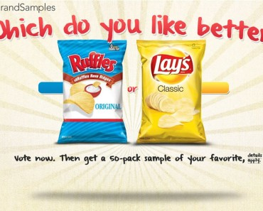 Get a 50 Sample Packs of Lays Potato Chips