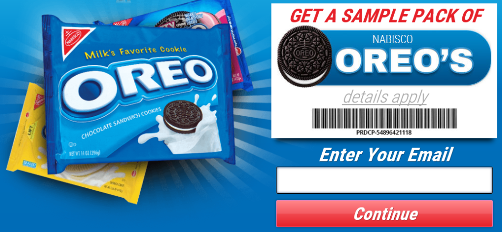 get free oreo cookies sample