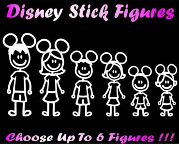 Free Custom Disney Stick Figure Family Decal By Mail