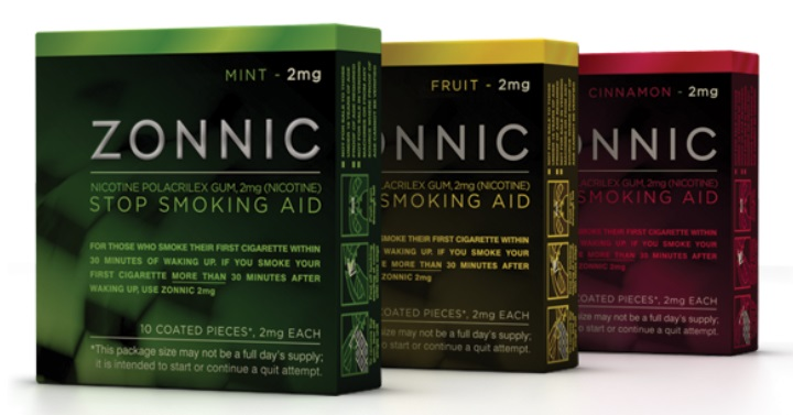 Free Pack Of Zonnic Gum To Help You Quit Smoking