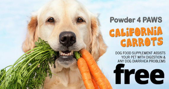 Free Powder For Paws California Carrots Supplement For Dogs