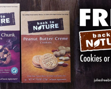 Free Sample Back To Nature Cookies Or Crackers By Mail