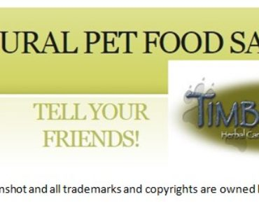 Free Natural Pet Food Sample From Timberwolf By Mail