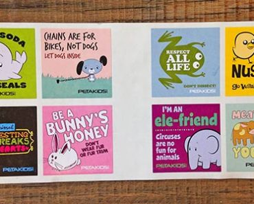 Free Stickers For Kids From Peta By Mail